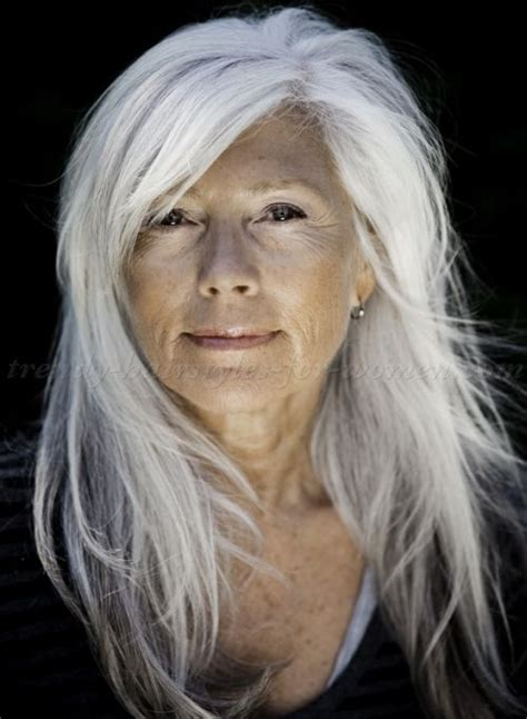 hairstyles if silver white long hairstyles for women over 50 all down hairstyle for