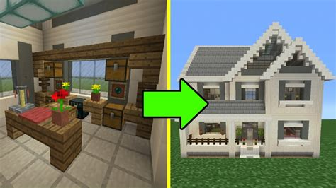 how to make a suburban house in minecraft minecraft tutorial how to make a suburban house 10 inside outside youtube