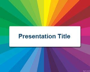 presentation of the colors color wheel powerpoint template