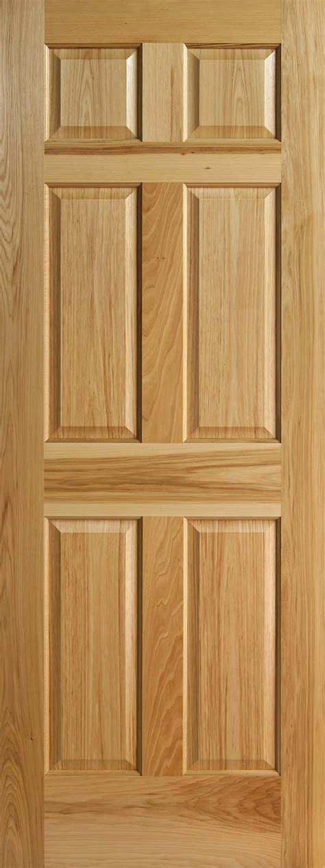 Six Panel Interior Door Hickory 6 Panel Interior Doors With Raised Panels Homestead Doors