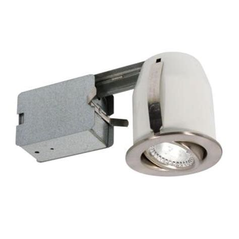 Home Depot Led Recessed Lights by 3 In Brushed Chrome Recessed Led Lighting Fixture 303l5b The Home Depot