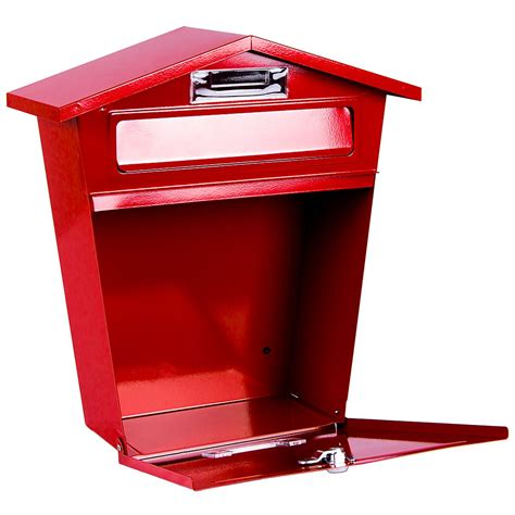 white wall mounted mailbox letter mailbox steel post box large mailbox lockable letter mail wall