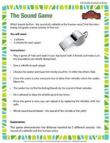 the sound game cool science activities for 3rd grade