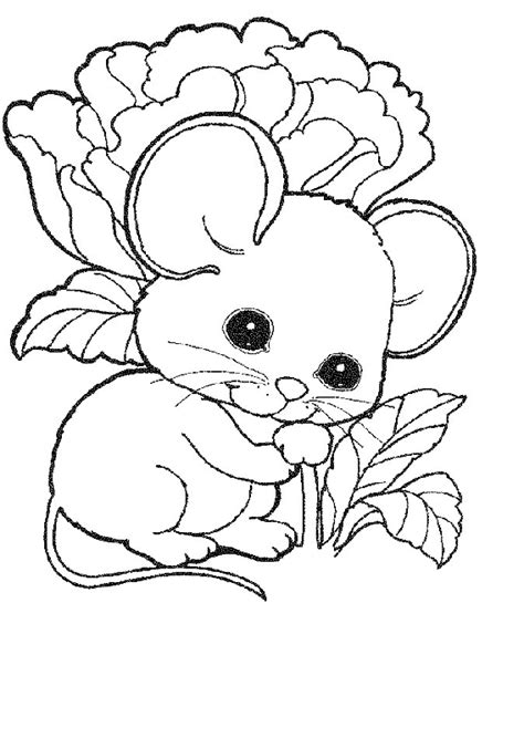 coloring pages of cute mice mouse rat coloring pages 5 free printable coloring