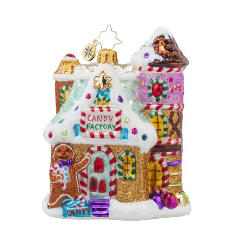 radko 1017747 sweet factory candy factory gingerbread