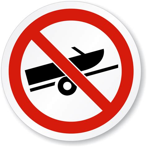 symbols used in the open boat no boat trailer symbol iso prohibition circular sign sku