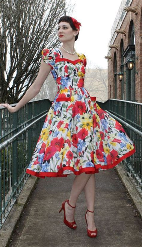 pattern dress rockabilly womens teens sewing dress pattern swing rockabilly 1950s