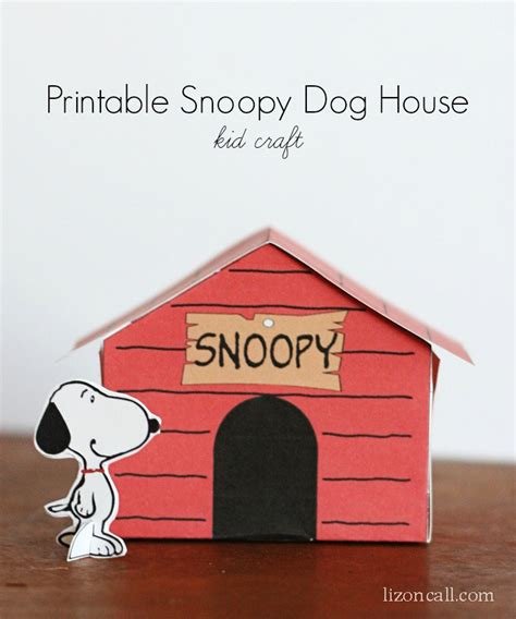 snoopy on his dog house printable snoopy dog house kid craft liz on call