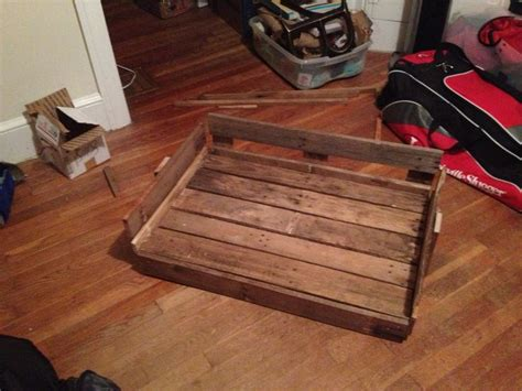 dog bed made from pallets do it yourself dog bed made from old pallets do it