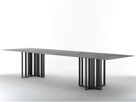 rectangular metal dining table shade by lema design