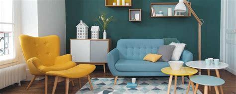 Salon Gris Bleu Jaune by Deco Salon Scandinave Bleu Jaune