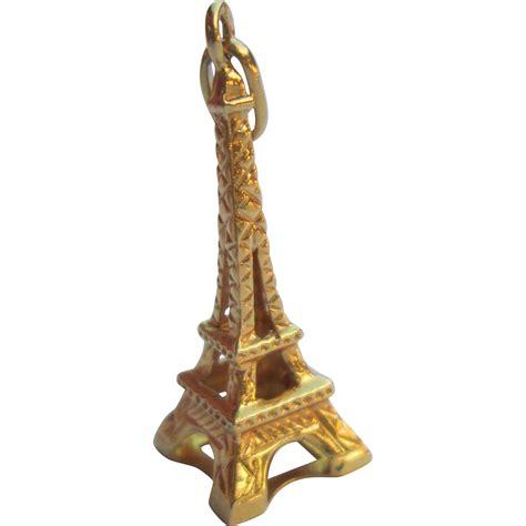Charm Eiffel 14k gold eiffel tower charm vintage estate from bellaantiquesandjewels on ruby