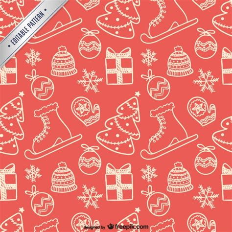 xmas pattern vector christmas elements pattern vector free download