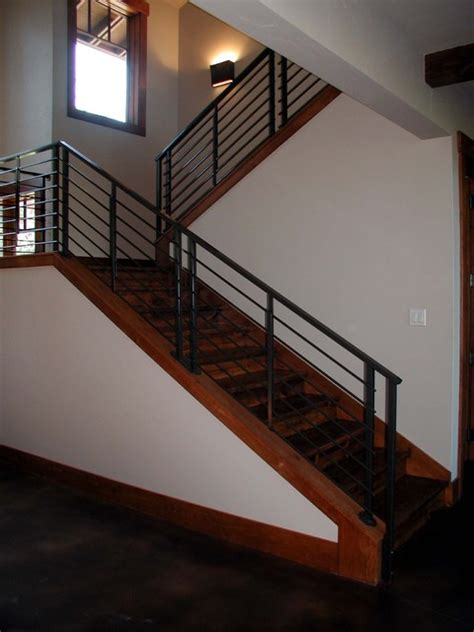 Small Stair Railing Decorating Inviting Modern Stair Railings Styles