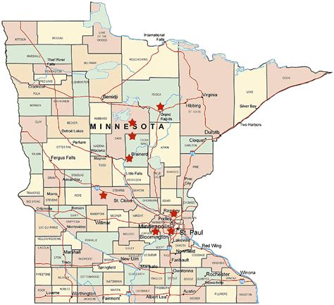 map of minnesota cities minnesota county map minnesota mappery