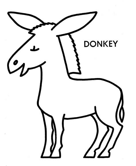 donkey coloring pages coloring home