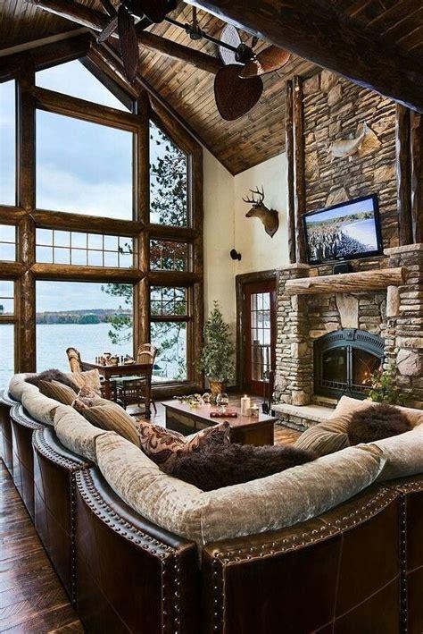 cabin living rooms mountain living room log cabin my childhood home pinterest