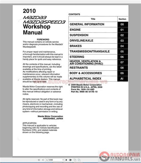 auto repair manual free download 2010 mazda rx 8 lane departure warning mazda 3 2010 workshop manual auto repair manual forum heavy equipment forums download