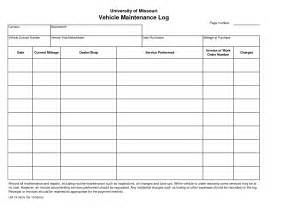 free vehicle maintenance log template 7 best images of printable vehicle repair log free
