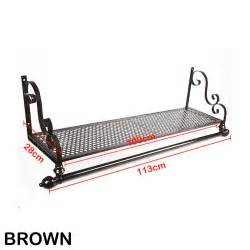 Wall Mounted Clothes Rack With Shelf by Heavy Duty Vintage Metal Clothes Rail Wall Mounted Garment