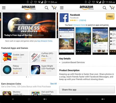 amazon app store amazon sneaks its android appstore into its main app