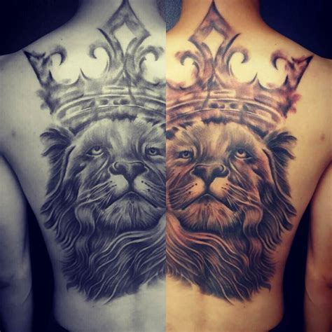 black lion tattoo image of a with a crown impremedia net