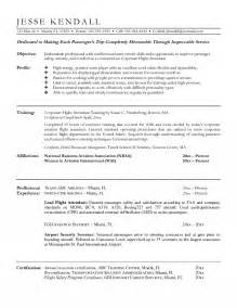 Resume Examples For Flight Attendant Flight Attendant Resume