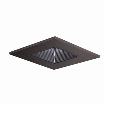baffle trim recessed lighting halo 3 in tuscan bronze recessed ceiling light square
