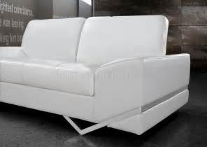 Modern Sofa And Loveseat White Leather Modern 3pc Sofa Loveseat Chair Set