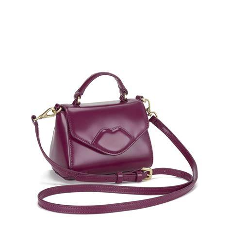 Lulu Guinness Shaped Handbags by Lulu Guinness S Izzy Mini Polished Grab Tote Bag