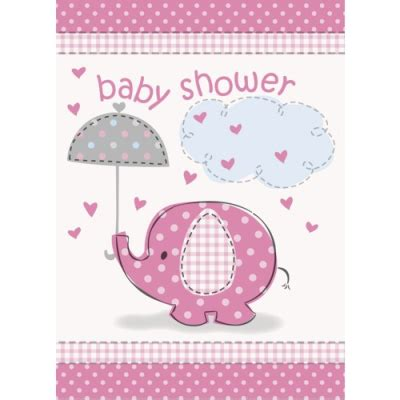Holding A Baby Shower by Pink Elephant Baby Shower Invitations