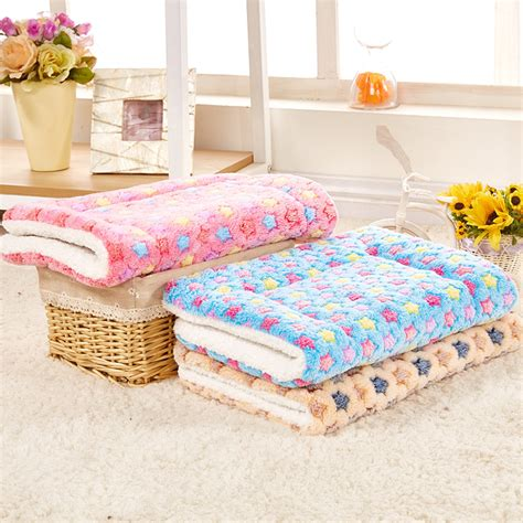 warm bed winter dog bed foldable pet blanket coral cashmere touch