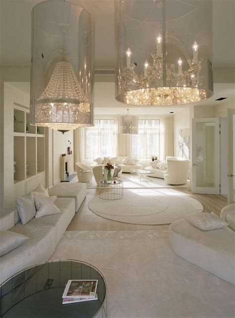 white interior homes crystal embellished home with off white interior by shh