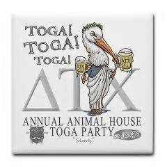 animal house stork stork toga party tile coaster animal house toga party and tile coasters
