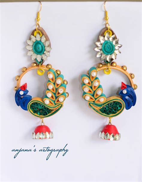 Paper Quilling Earrings - quillspiration 26 pairs of awesome paper quilled jhumka