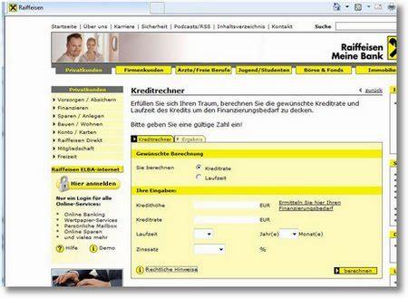 kreditrechner allgemein kreditrechner raiffeisen 187 www nebenjob heimarbeit at