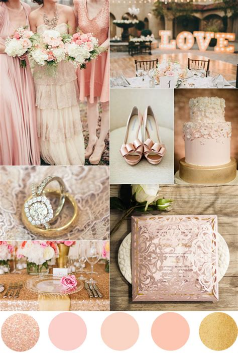 Wedding Theme Idea Pink And Gold Our One 5 by Top 7 Amazing Pink And Gold Wedding Color Palettes
