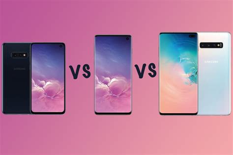 samsung galaxy s10 vs s10 vs s10e vs s10 5g range compared