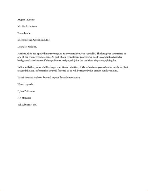 remarkable resume references letter samples for your character