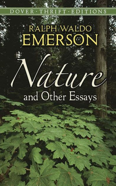 themes of the essay nature by emerson nature and other essays by ralph waldo emerson paperback