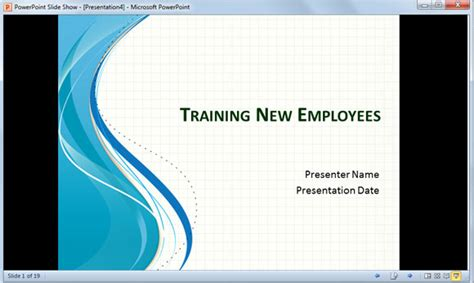 show template powerpoint powerpoint slideshow in a small window instead of