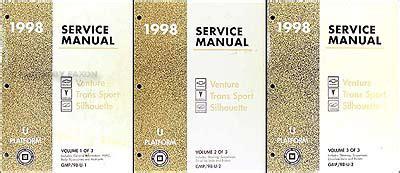 service and repair manuals 1998 pontiac trans sport electronic throttle control 1998 chevy venture pontiac trans sport shop manual set chevrolet repair service