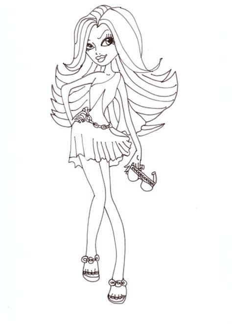 monster high spectra coloring pages all about monster high dolls spectra free printable