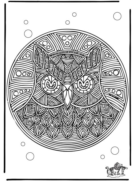 coloring pages mandala owl free coloring pages of owl mandala
