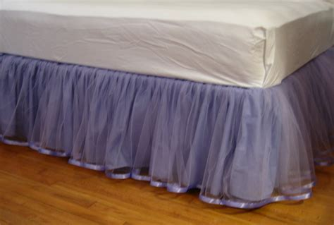purple bed skirt queen tulle bedskirt in lavender or purple
