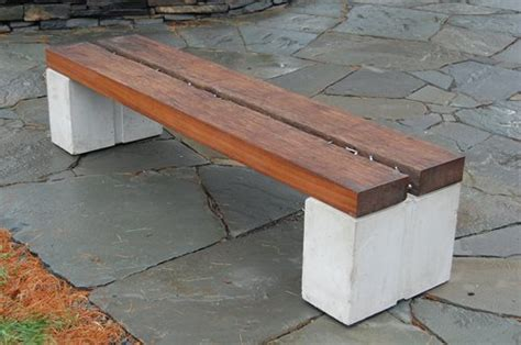 wood and concrete bench wood concrete metal benches landscaping network