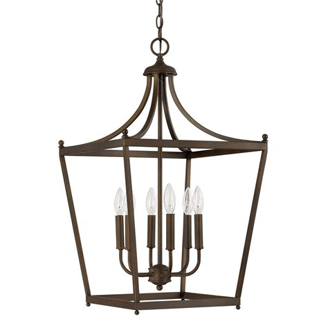 Light Fixtures For Foyer Capital Lighting Fixture Company Stanton Burnished Bronze Six Light Foyer Pendant On Sale