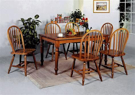 Oak Farmhouse Dining Room Table Farmhouse Oak Dining Table And 4 Side Chairs