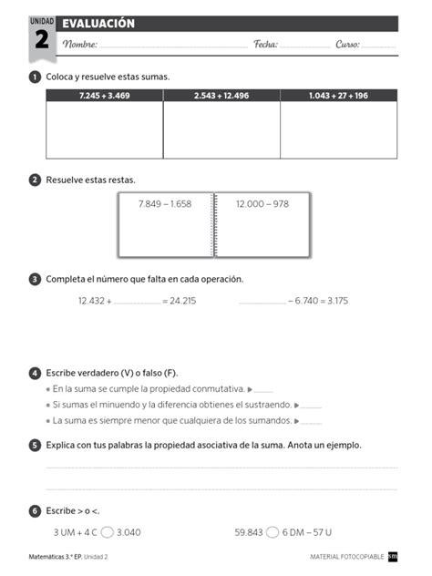 savia matematicas 1 de primaria gratis evaluacion tema 2 mate sm proyecto savia pdf