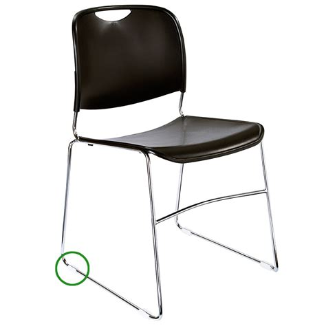 Stack Chair by National Seating Gl85 Stacking Chair Floor Glide For 8500 Series Stacking Chairs